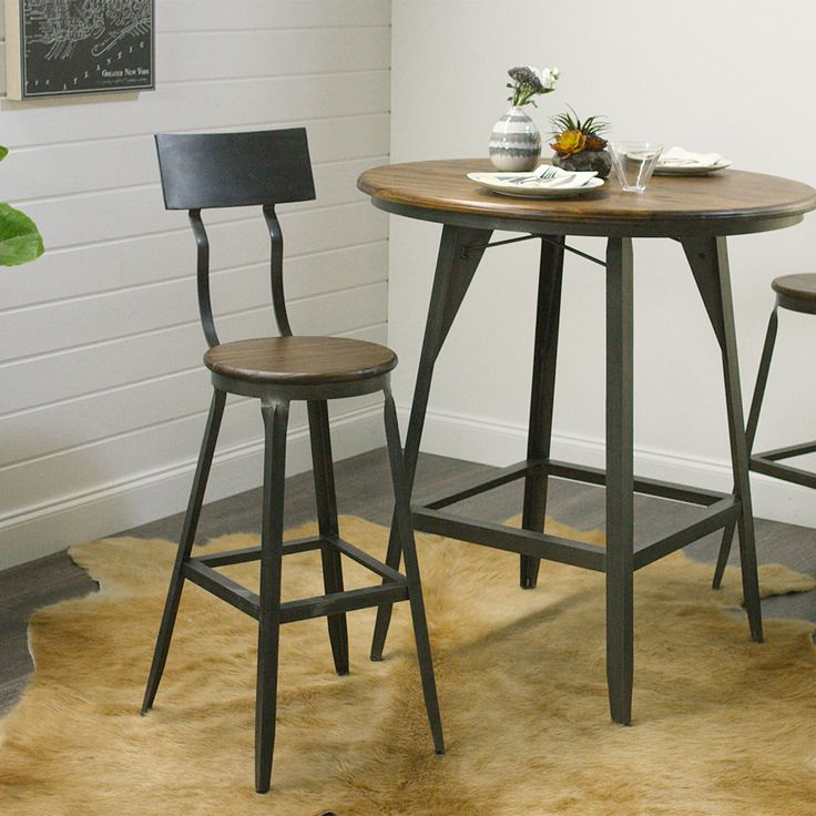 Our handsome Hudson Pub Stool exudes big-city style that recalls the early 20th-century industrial era. Expertly crafted of a metal base and acacia wood with a weathered finish, this stool is equally casual and budget conscious.