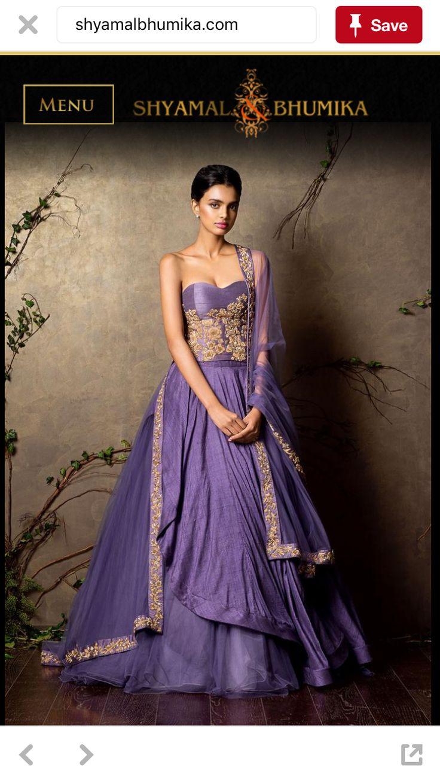 Excepcional Vestido Indo Occidental Para El Matrimonio Bosquejo ...