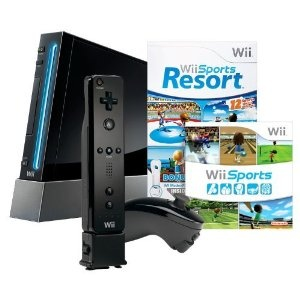 Wii with Wii Sports Resort / Wii Sports - Black - We got this bundle yesterday!!! :D