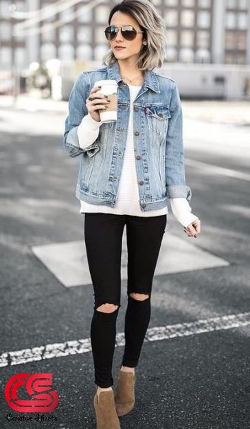 6d734e8f7969 Amazng women's fashion. Amazng women's fashion Outfit Jeans, Denim Jacket Outfit  Winter ...
