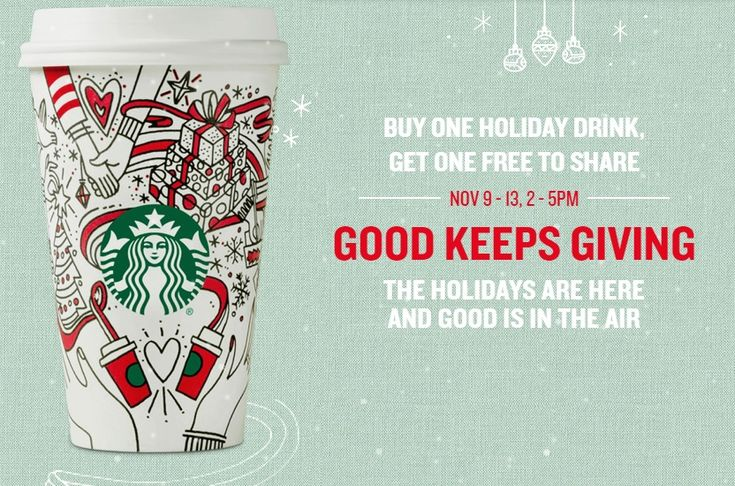 Starbucks+Buy+One+Get+One+FREE+Holiday+Drinks+Nov+9-13,+2017