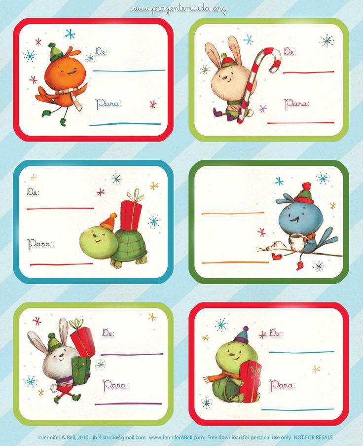 Mini tags de natal para imprimir | Pra Gente Miúda