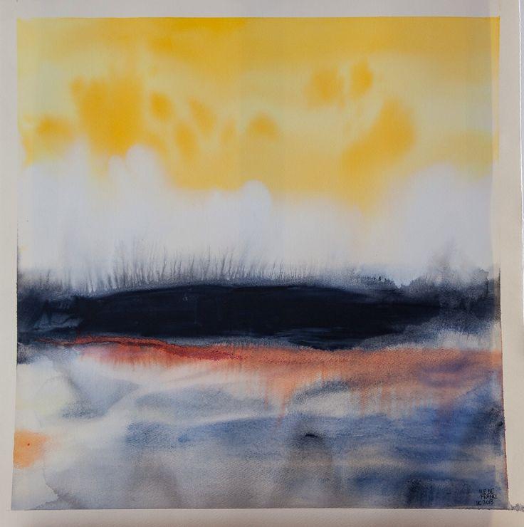 Ile De France (Ilaria Franza) water colour and ecoline. 65 x 65 cm Un.Limited 01