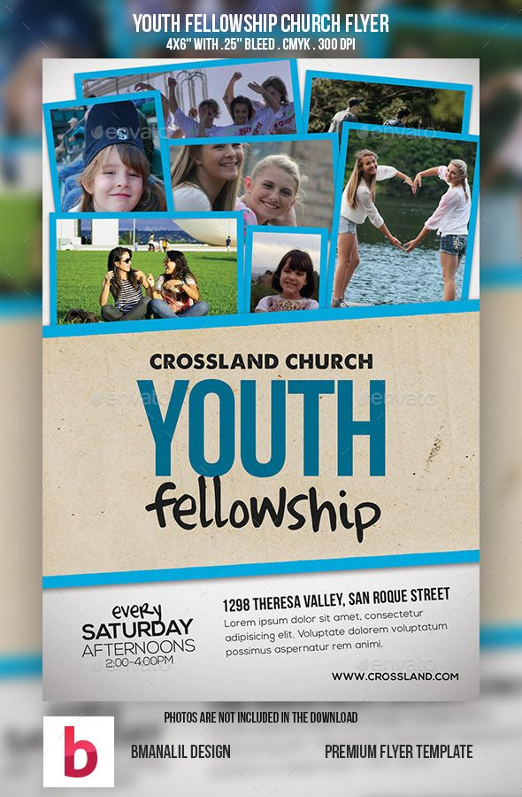 Youth Fellowship Church Program | Church, Template and ...