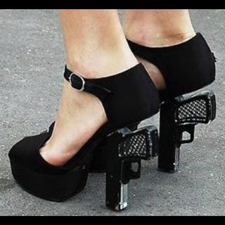 Revolver high heels!! I want these!