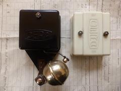 Unusual Cera BT Bakelite & Brass Electric Sleigh Doorbell + Transformer