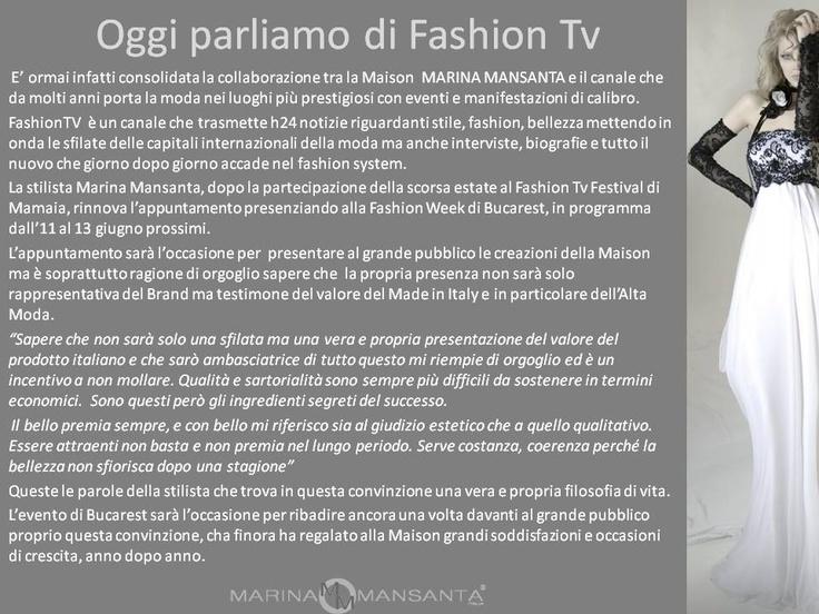 Oggi parliamo di Fashion Tv
