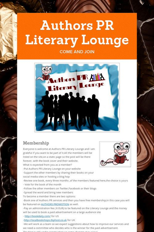 Authors PR Literary Lounge