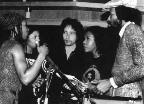 "Bob Dylan recording the album ""Saved"" in Muscle Shoals"