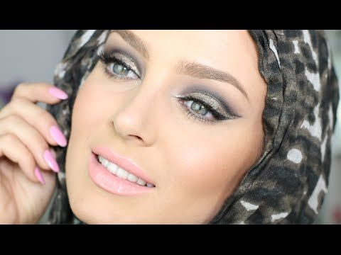 Glam Metallic Hijab Makeup with TRIPLE Winged Liner! By Chloe Morello , Love this makeup <3