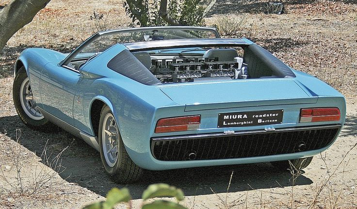 Lamborghini Miura Roadster. First exotic to catch my eye back in the day