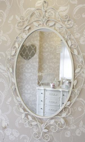 Cream Shabby Chic Oval Mirror Ebay Uk Beautiful