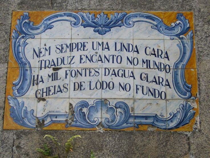Portuguese tiles with sayings/quotes!!!