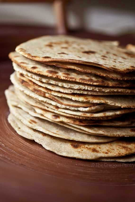 Clean Eating Quinoa Tortillas (Makes 18 tortillas) Note: These are not the flimsy tortillas you buy at the store. These are sturdy, fill-you-up tortillas. They are best eaten warm. Ingredients: 4 cups quinoa flour 3/4 cup brown rice flour 1 teaspoon salt 1 teaspoon olive oil 1-1/4 cup hot water