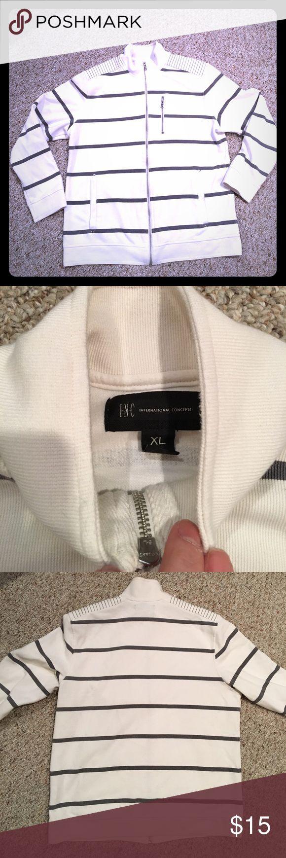 Men's striped zip up EUC INC zip up. INC International Concepts Shirts Sweatshirts & Hoodies