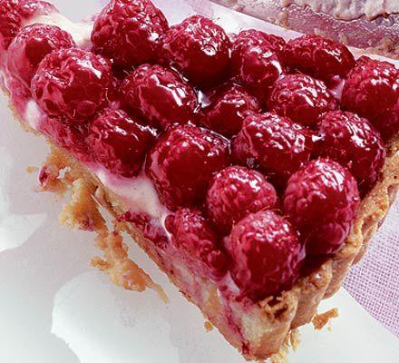 The most stunning summer dessert ever; raspberry, lemon and frangipane tart