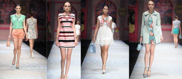 I modelli british si mescolano ad un clima enigmatico e sensualmente asiatico. Oasis, come sempre, punta su una femminilità acqua e sapone