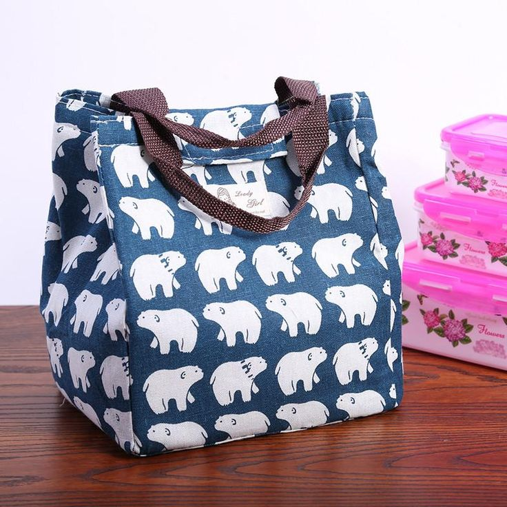 Canvas, Thermal, Insulated Lunch Bag