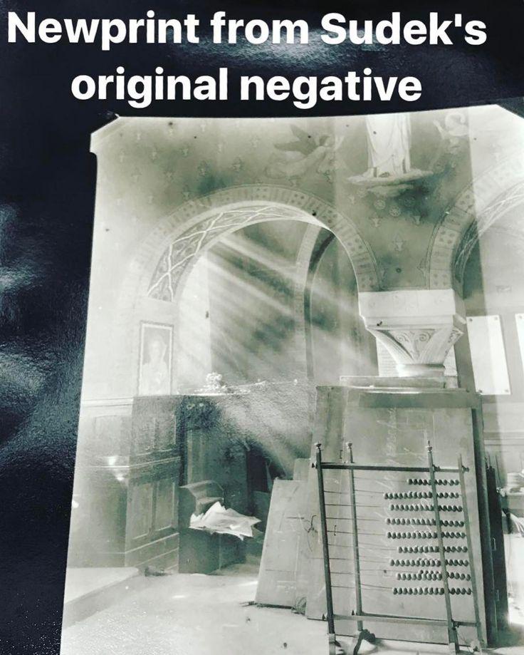 #Newprint from original #negative from Josef Sudek still wet. #josefsudek #sudek  #darkroomprint #darkroom #workshop