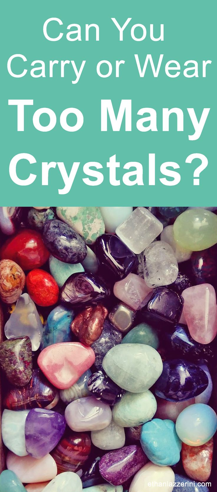 How many crystals is too many crystals? Is it okay to carry or wear lots of different crystals at the same time?  Will the crystal's energies clash or be less effective in some way? #crystalhealing