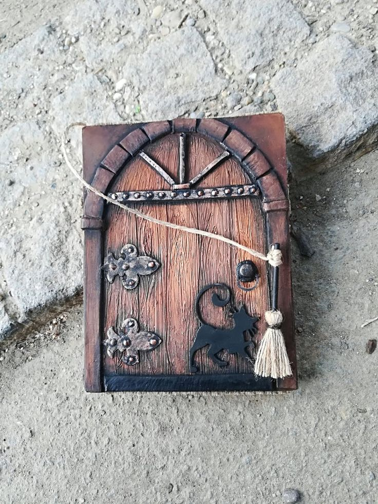 Halloween Fairy Witch House Door Blank Journal Medieval