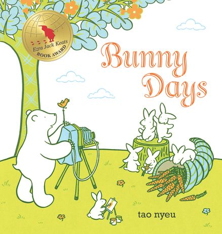 Bunny Days: Six bunnies, two goats, and a very handy bear live harmoniously - though not without mishap - in this charming picture book!