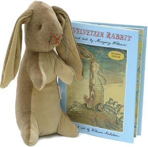Velveteen Rabbit stuffed toy and book. This was one of my favorite books that I read to both our sons. I have always loved it. :-)