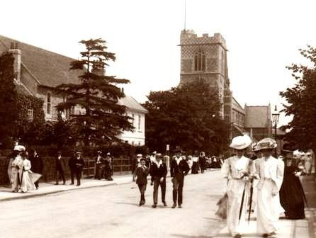 Barnet Church from Wood Street