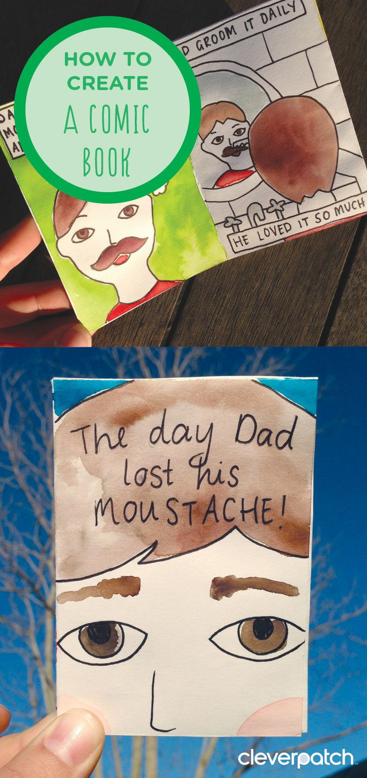 Write Dad his own comic book for Father's Day!
