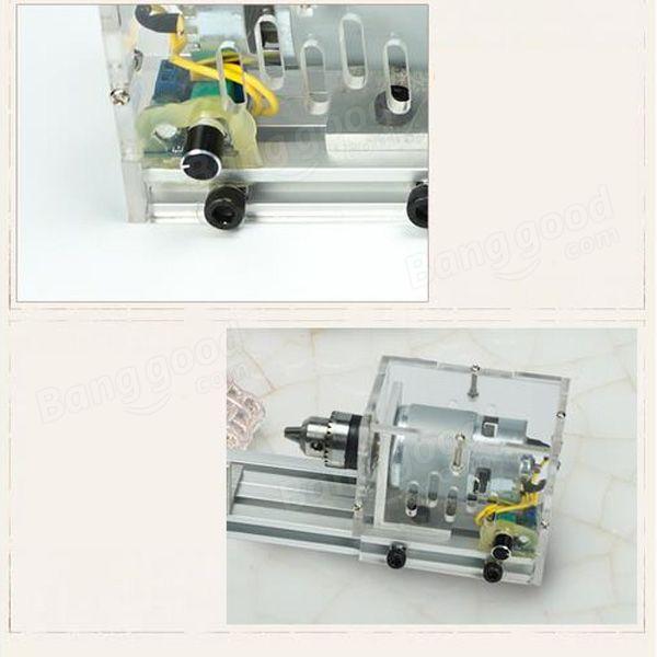 Mini Table Lathe Saw Machine Beads Polishing Woodworking Lathe (9)