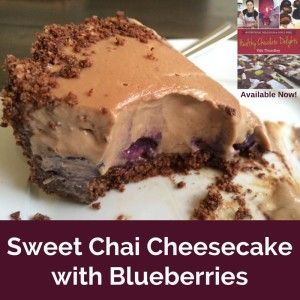 Sweet Chai Cheesecake with Hidden Blueberries GF, DF