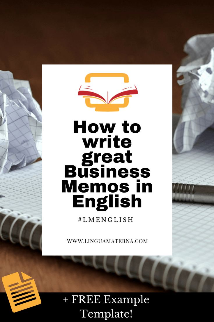 How To Write Business Memos In English