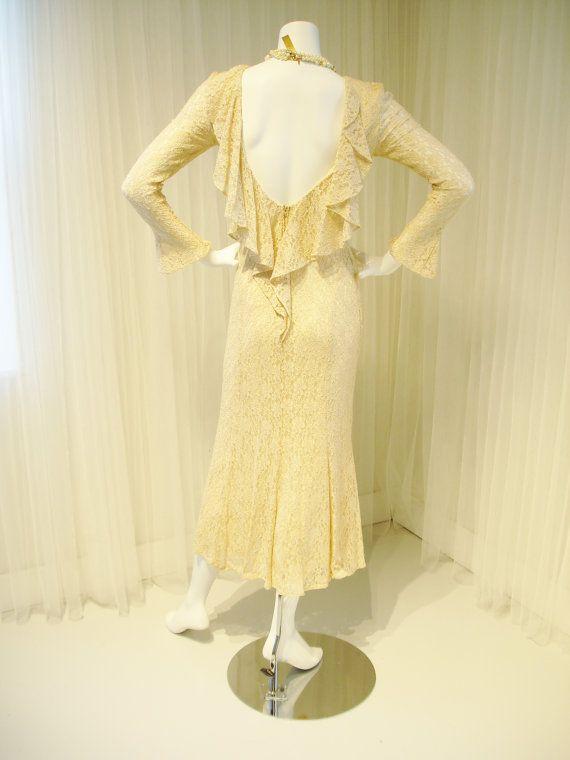 anni ' 80 fa il grande Gatsby 1920 abito da sposa di TheTealDoor