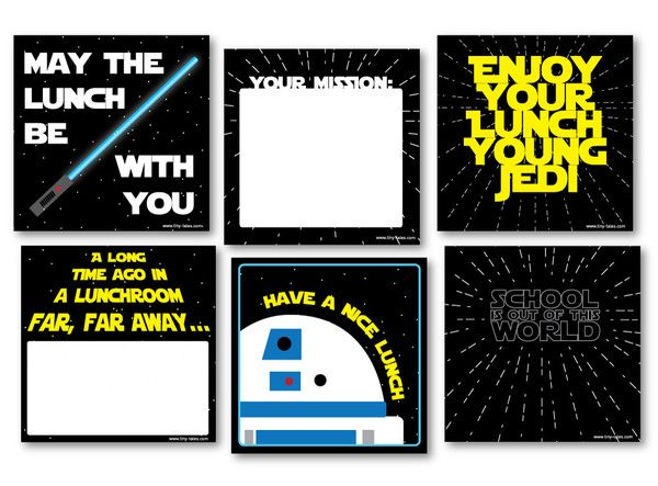free printable lunch notes star wars - Bing Images