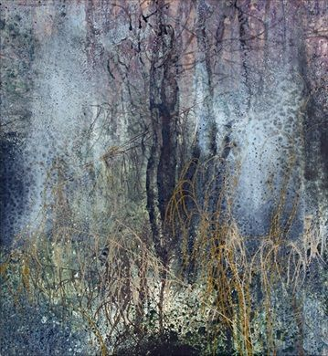 Michael Porter Mist Through Trees 04-07-11 Oil and mixed media on canvas, 120 x 110 cm / 47.25 x 43.25 in