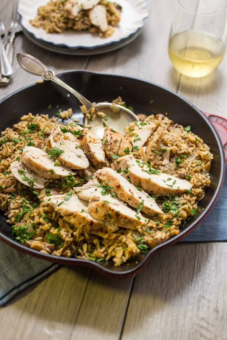 Chicken Recipe With Mushrooms Rice Recipe Recipes Chicken With Mushrooms   – Easy recipes healthy dinner Ⓟ