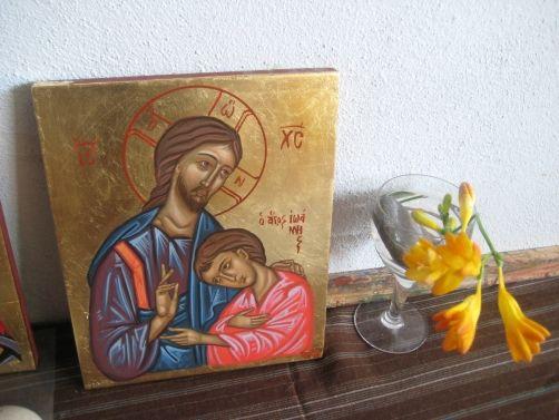 St John the beloved disciple near Jesus