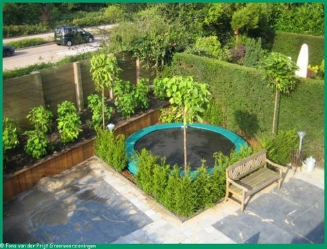 small garden with trampoline - Google Search