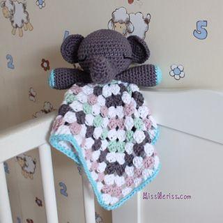 Amigurumi Elephant Snuggle : FREE PATTERN ~ C. LOVIE BABY BLANKETS Pinterest ...
