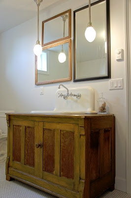 Best Sinkvanity Images On Pinterest Bathroom Ideas Bathroom - Salvage bathroom vanity cabinets for bathroom decor ideas