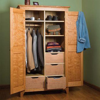Traditional Cherry Wardrobe Woodworking Plan by Woodcraft Magazine