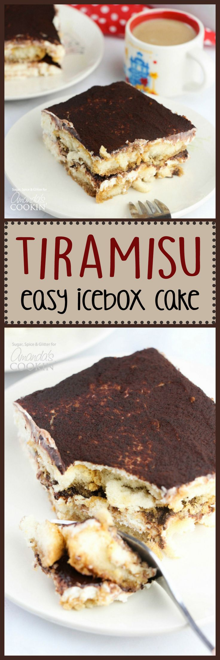This no-bake Tiramisu Icebox Cake comes together in minutes and is the perfect dessert with a cup of coffee or after a traditional Italian meal.