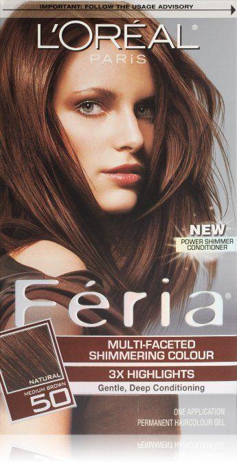 Feria Hair Color, 50 Medium Brown (Packaging May Vary) | WOMAN SHOP