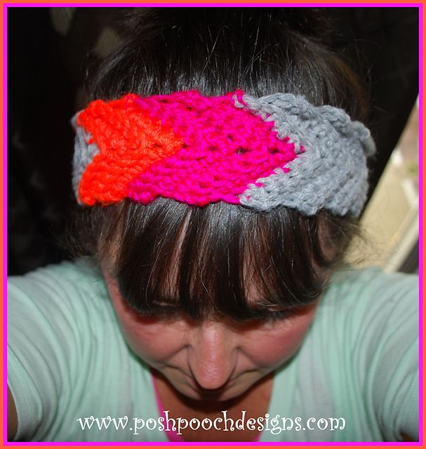 Free Crochet Chevron Ear Warmer Pattern : 1000+ images about Headbands- FREE Crochet on Pinterest ...
