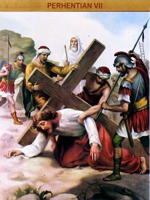 """YESUS JATUH UNTUK KEDUA KALINYA : Apa yang dinubuatkan Yesaya kini menjadi kenyataan, """"Dia dianiaya, Dia membiarkan diri ditindas, dan tidak membuka mulut-Nya, seperti anak domba yang dibawa ke tempat pembantaian; seperti induk domba yang kelu di depan orang-orang yang menggunting bulunya, Ia tidak membuka mulut-Nya."""" (bdk. Yes 53:7)"""