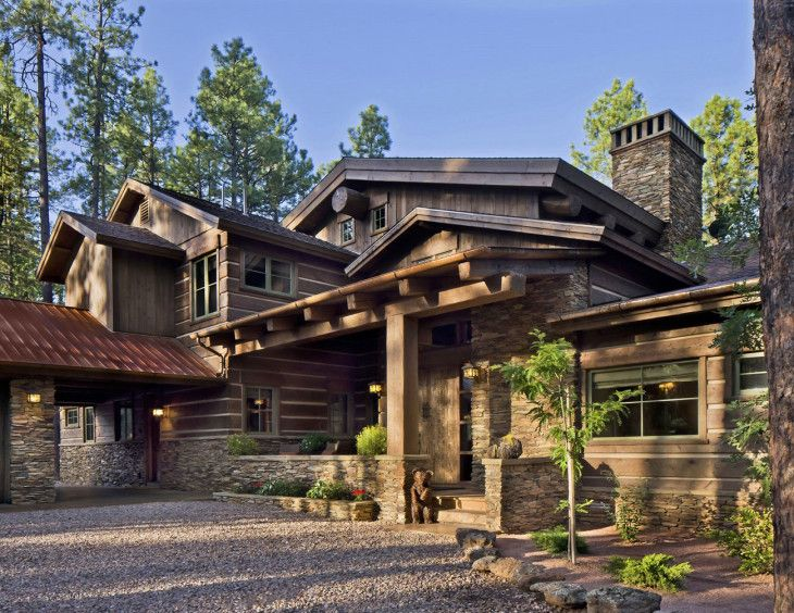 Etnic Contemporary Mountain Home Plans Design - pictures, photos, images