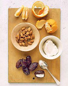 Stuffed Dates with Clementine   MarthaStewart.com