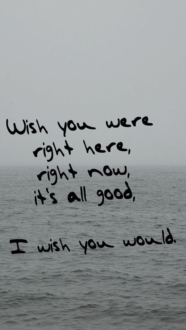 """""""I wish you were right here, right now, it's all good, I wish you would."""" -Taylor Swift (1989: I Wish You Would)"""
