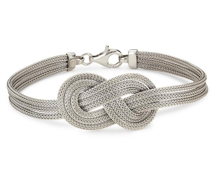 Infinity Knot Mesh Bracelet in Sterling Silver ...