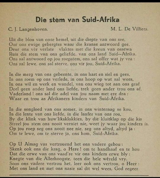 Die stem van Suid-Afrika C.J. Langenhoven